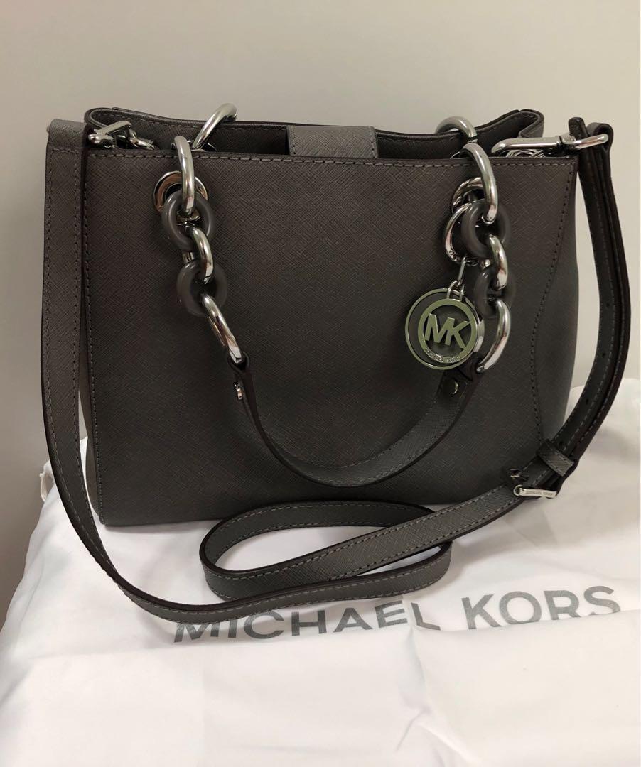 Michael Kors Grey Satchel Bag