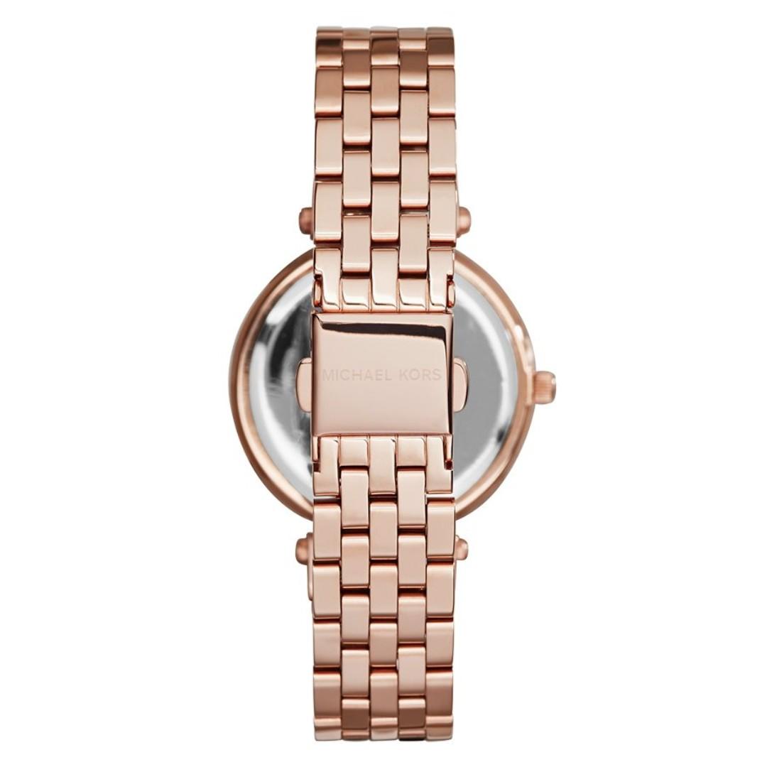 5fd41a0ab7e5 Michael Kors Mini Darci Rose Gold Tone Dial Steel Ladies Watch MK3366