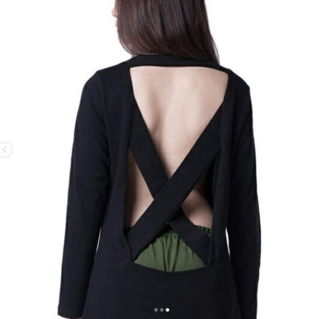NEW With Tag  NOHO Sweatshirt / Sweater Open Back Tops