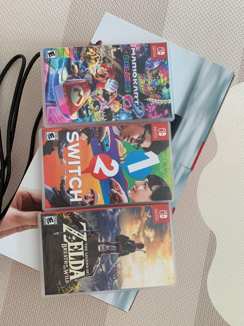 Nintendo Switch and Games and extra controller