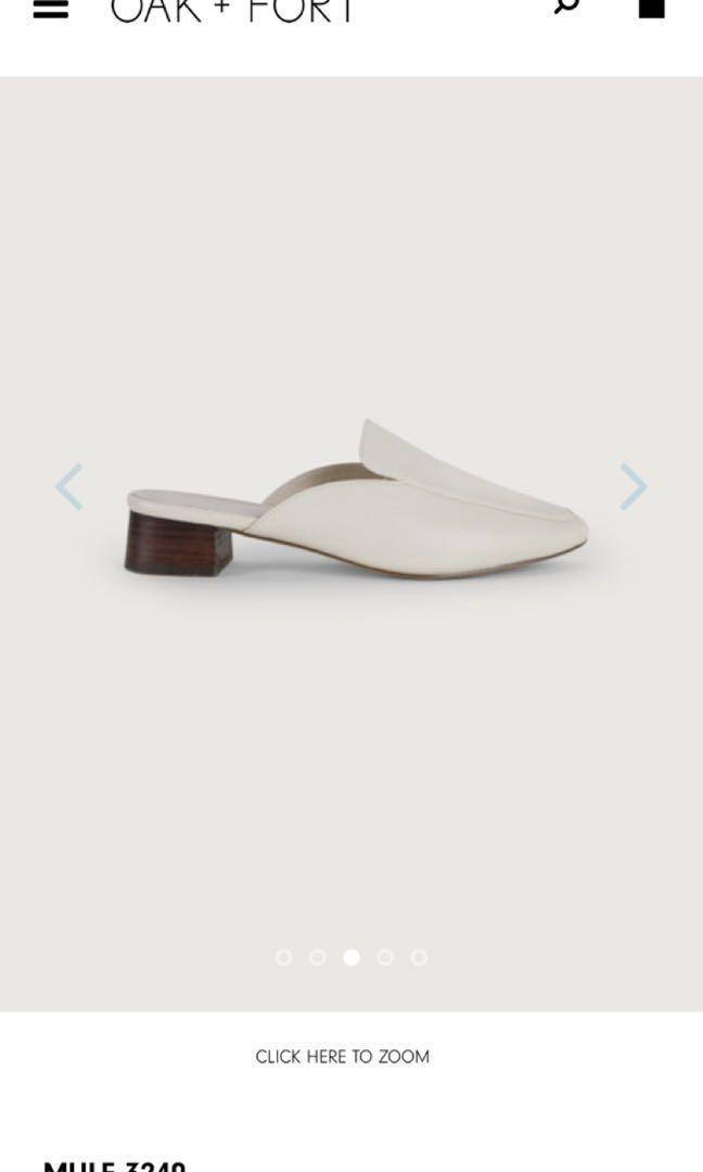 OAK AND FORT WHITE MULES SIZE 6