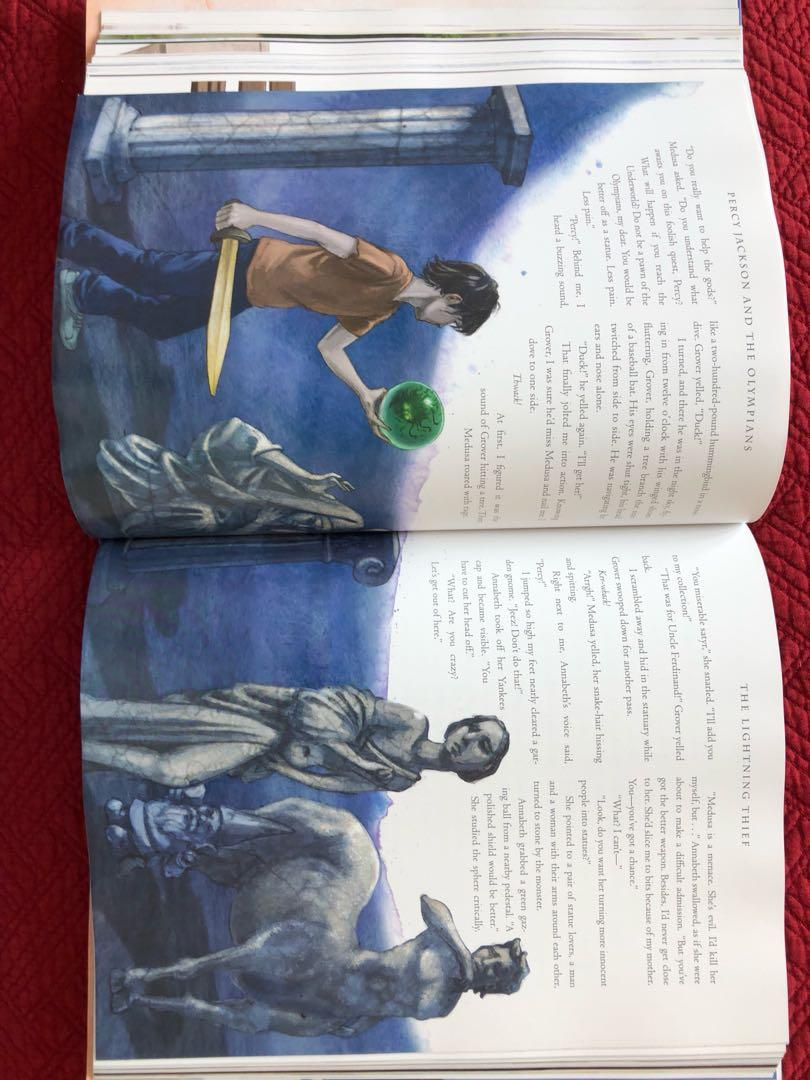 Percy Jackson The Lightning Thief Hardcover Novel with illustrations