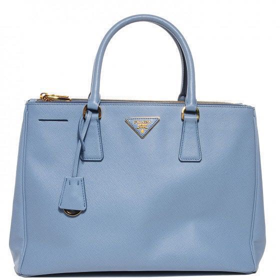70c219580e2c Prada Saffiano Lux Double Zip Tote Bag in Light Blue (Astrale), Luxury, Bags  & Wallets, Handbags on Carousell