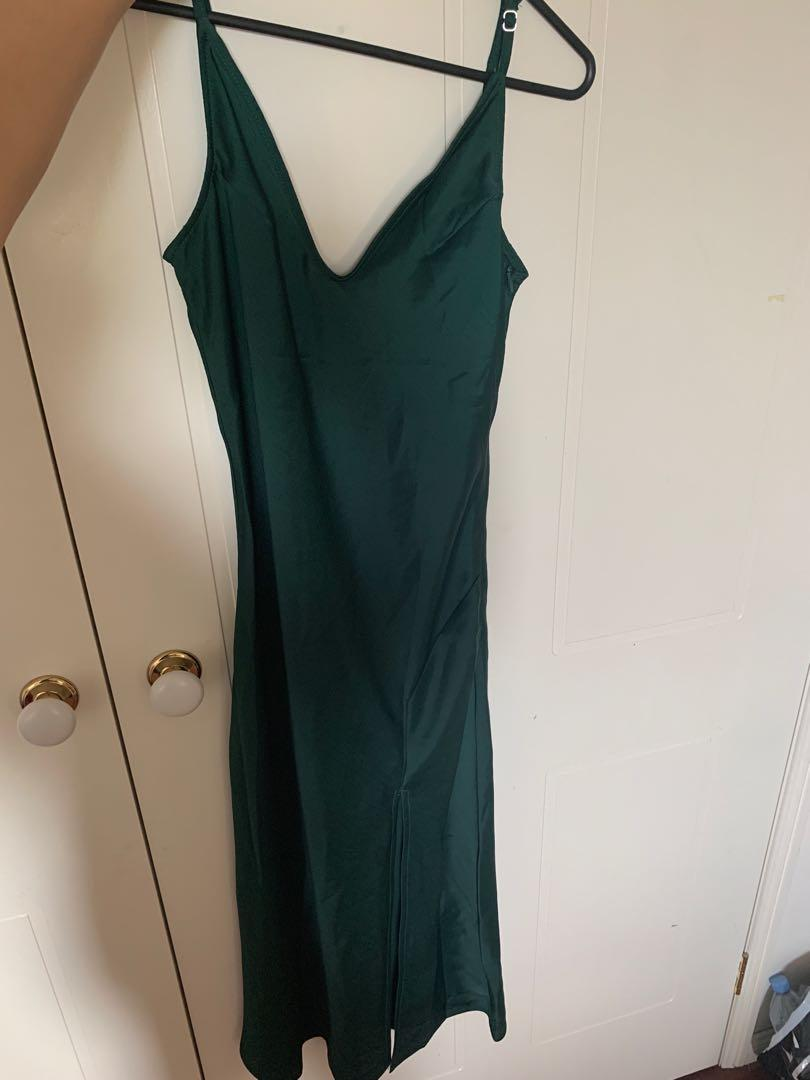 Princess Polly Forest Green Dress
