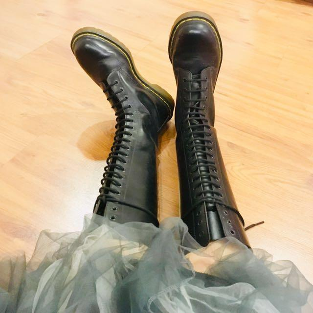 01baea97b6d RARE Dr Martens 20 Eyelet Boots, Women's Fashion, Shoes, Boots on ...