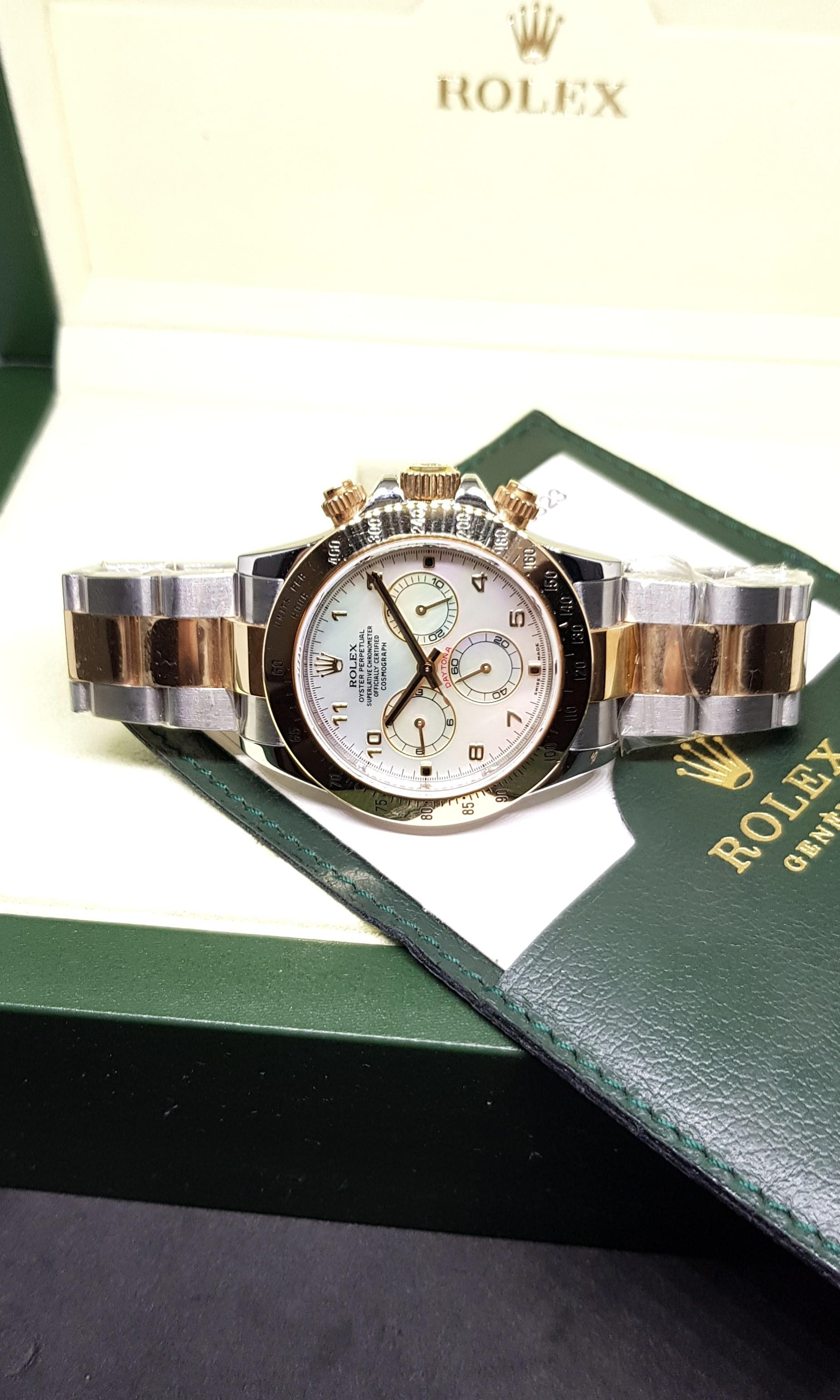 (NOT AVAILABLE) Rolex Oyster Perpetual Cosmograph Daytona in White MOP Dial