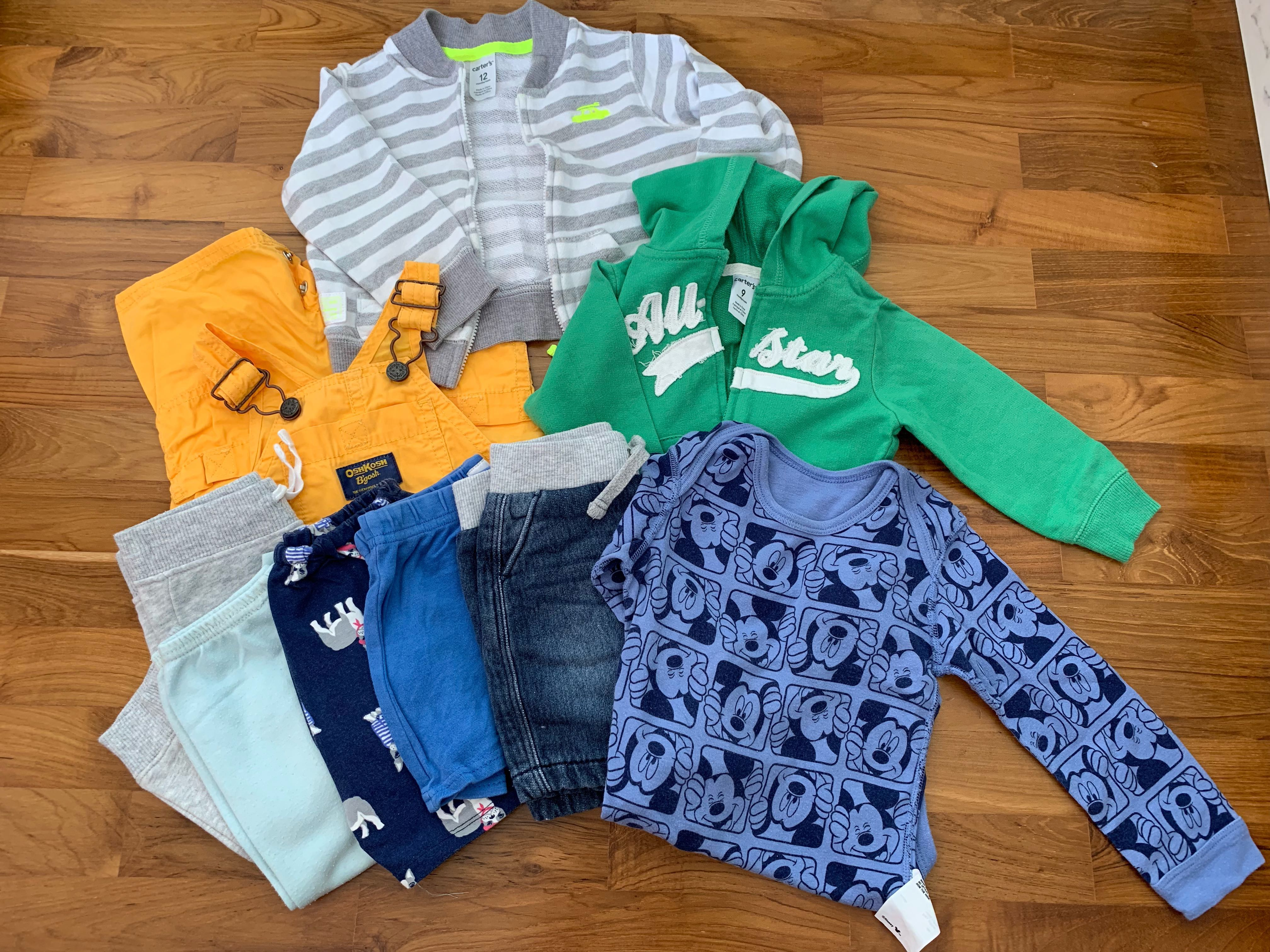 dbc8a11c08f6 Sale ! / Baby Boy clothes 12 months / Jackets x 2, pants x 5 / clearance /  Disney / Oshkosh, Babies & Kids, Boys' Apparel, 1 to 3 Years on Carousell
