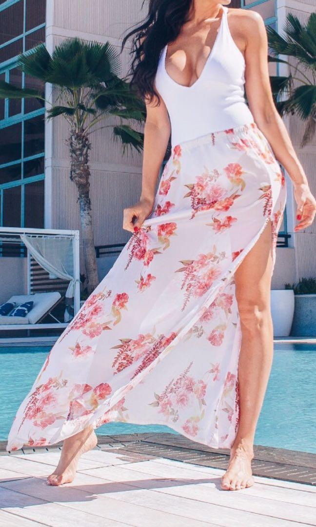 Semi sheer floral Pretty Little Thing Skirt - Postage Included