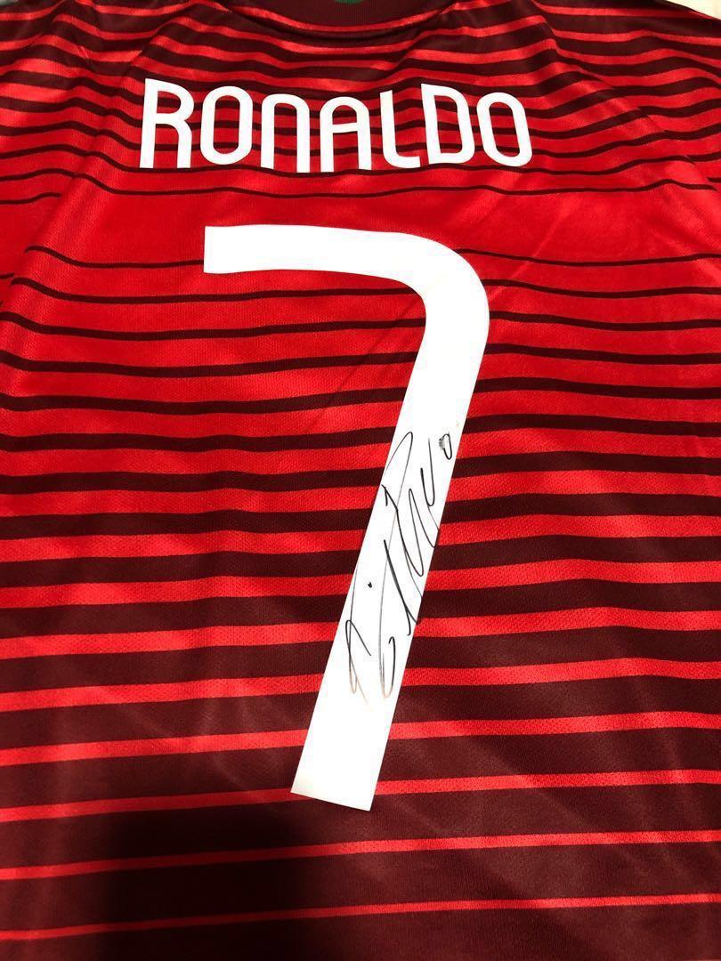new style 034e8 fab00 Signed Ronaldo Jersey