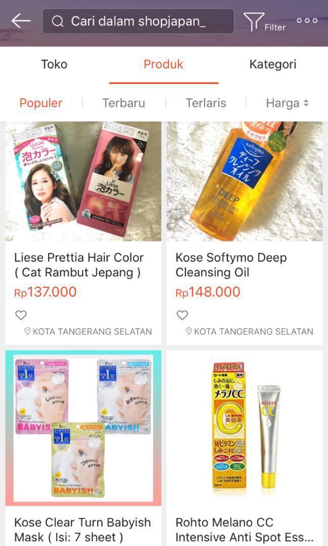 Skincare Jepang / Makeup Japan
