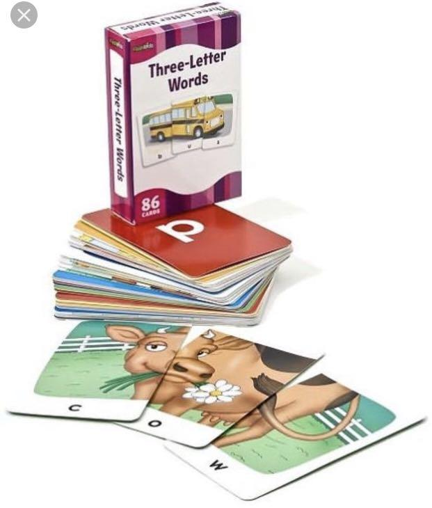 Three-letter Word Flash Cards