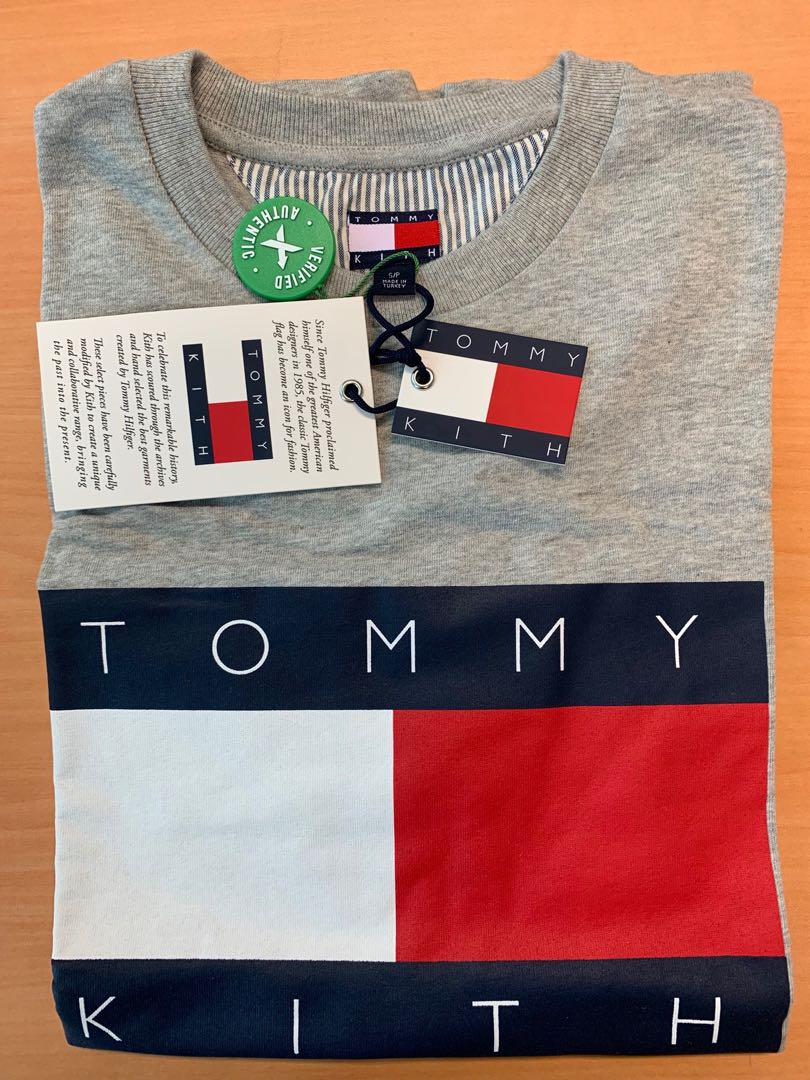 c5384954 Tommy Hilfiger x Kith Tee in Grey Size S, Men's Fashion, Clothes ...