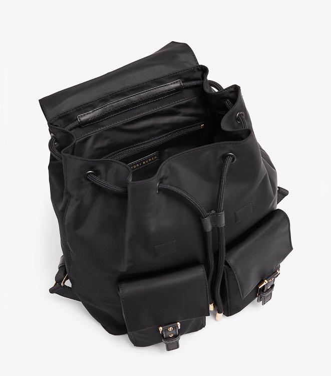 d8aa89ac10c Tory Burch Tilda Nylon Flap Backpack, Women's Fashion, Bags & Wallets,  Backpacks on Carousell