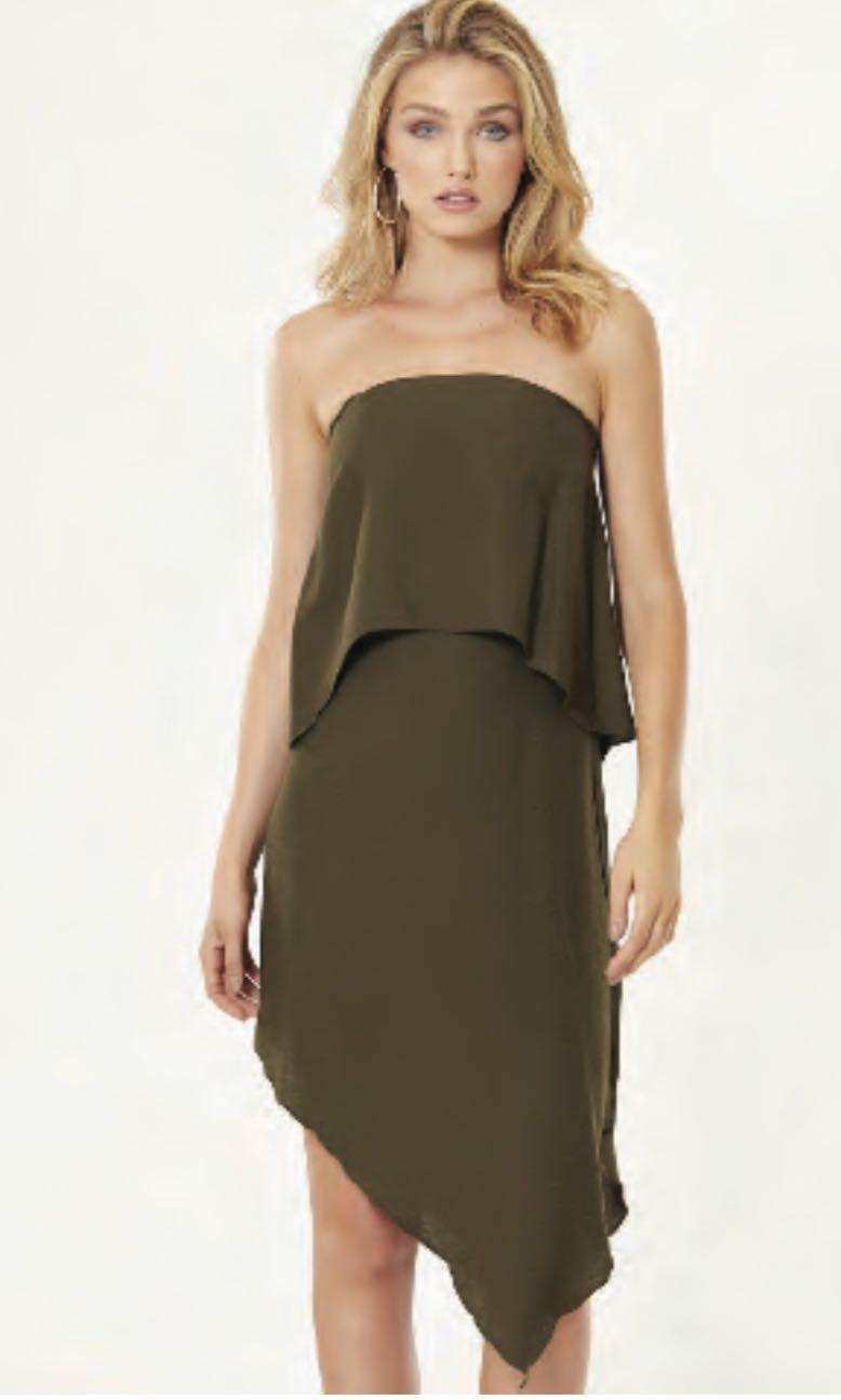 Tussah The Label Strapless Asymmetrical Dress - Postage Included
