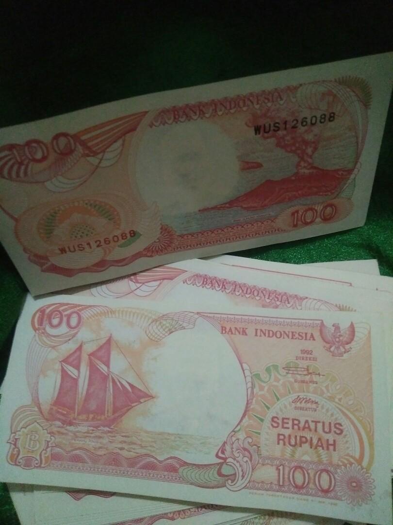 Uang 100 Rupiah Tahun 1992