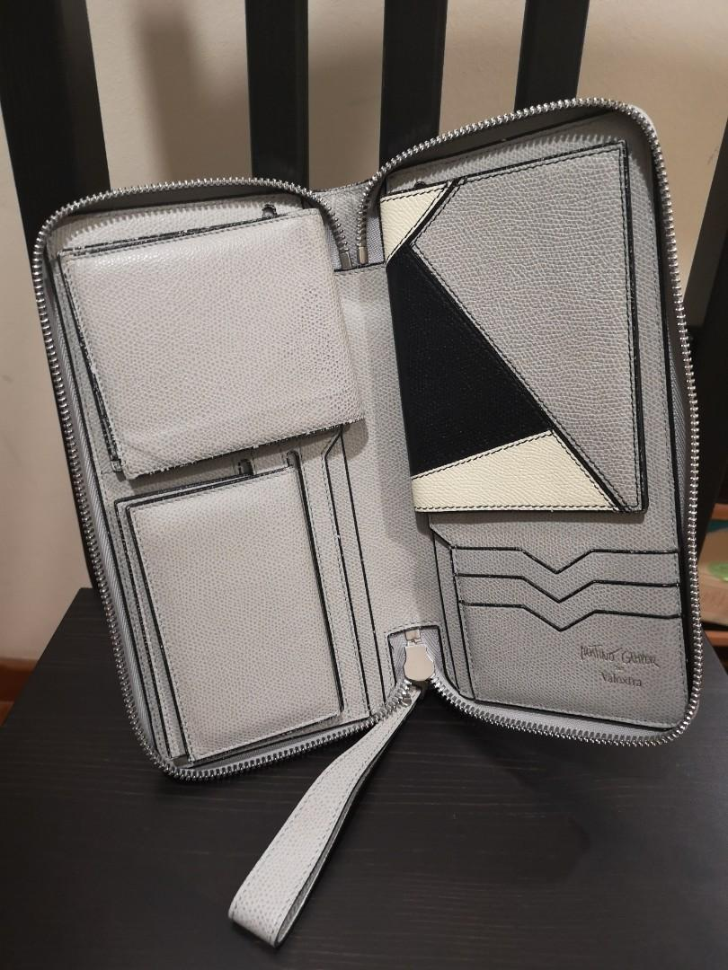 Valextra all in one travel pouch and clutch