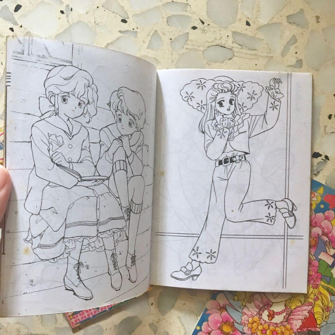 800+ Vintage Anime Coloring Book HD