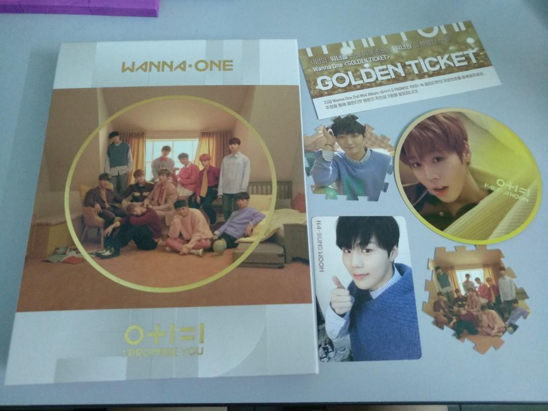 WTS LOOSE ITEMS WANNA ONE I PROMISE YOU ALBUM ( DAY VERSION)