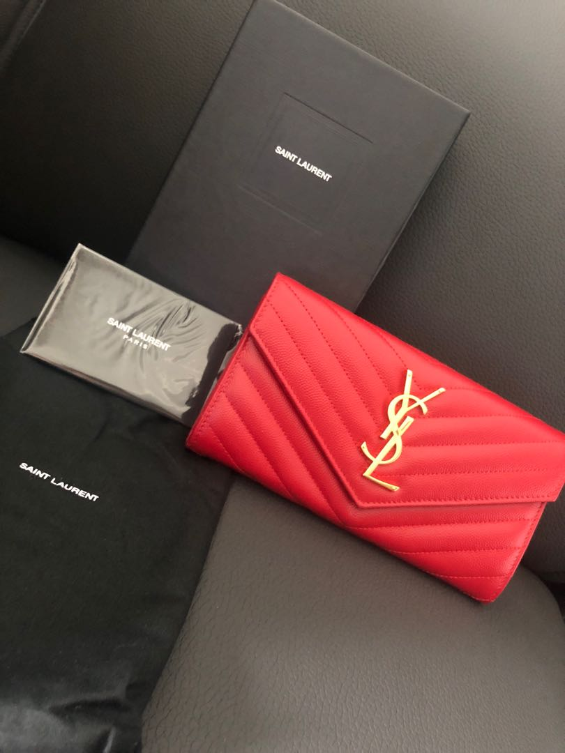 477ad161e511 YSL Monogram Large Wallet, Luxury, Bags & Wallets, Wallets on Carousell