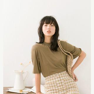 Meier.q 小立領絲滑柔軟上衣 #半價衣服拍賣會
