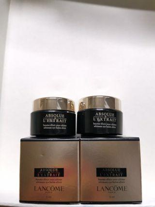 LANCOME ABSOLUE  黑金眼霜5ml x2  $230