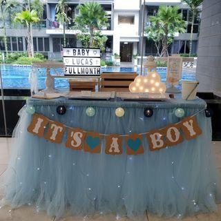 Dessert Table Styling_Classic Blue_Little Prince Baby Shower