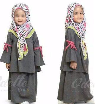 Baju muslim abu2 (tanpa jilbab)
