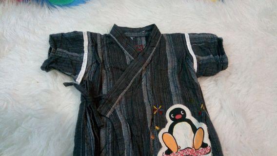 Baby boys kimono rompers