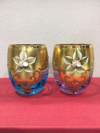 NEW Handmade Hand-Painted Pretty Glasses fr MURANO Island