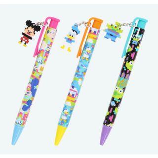東京連線迪士尼樂園限量版唐老鴨三眼怪米奇積木造型吊飾原子筆三隻一起賣全新