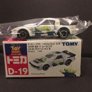 Tomica Disney Pixar Toy Story 反斗奇兵 D-19 三眼仔 Mazda Savanna RX-7 Racing 白色 車仔