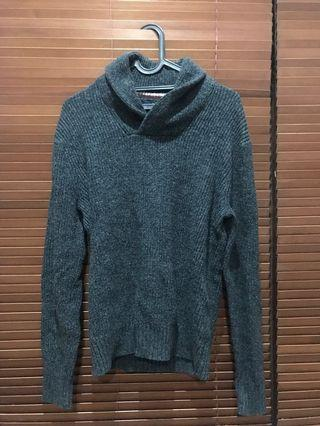 Dark Grey Shawl Sweater American Eagle Outfitters