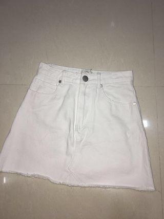 Cotton On White Denim Skirt