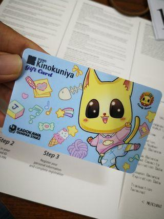 Gempak comic Candy series Kinokuniya gift card