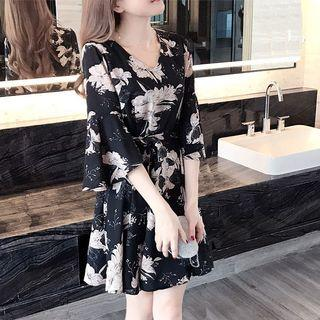 Floral Dress Elegant Ladies