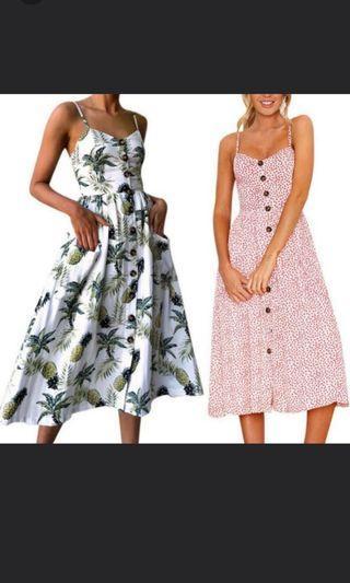 FLORAL DRESS L (instock) #endgameyourexcess