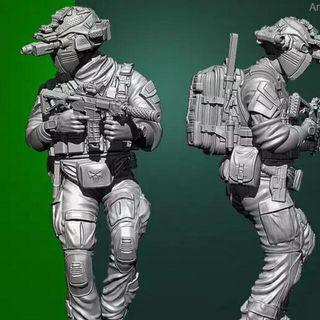 Navy Seal Figure 10cm Tall Build And Painting Needed Brand New In Box