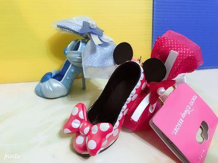 全新東京迪士尼帶回公主系列超可愛精緻高跟鞋經典米妮吊飾
