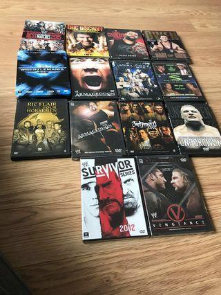 Wwe wrestling DVDs