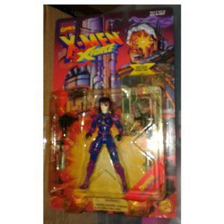 絕版 難尋 懷舊 1995年 Toybiz Marvel X-Men X-Force Domino 5吋高 action figure 1款