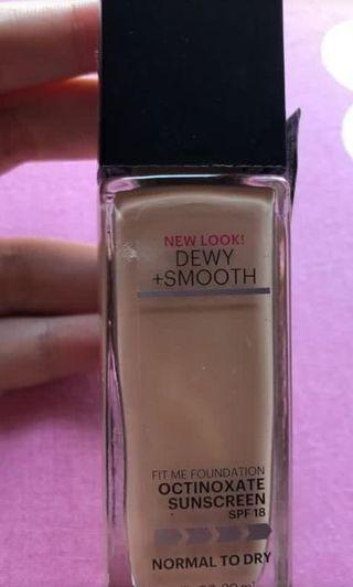 Foundation maybelline fit me dewy ivory 115