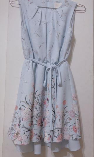 淺藍洋裝(已送洗過) 碎花洋裝 小清新洋裝