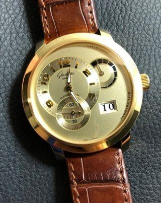 Glashutte PanoMatic Reserve XL 18 ct. Rose Gold