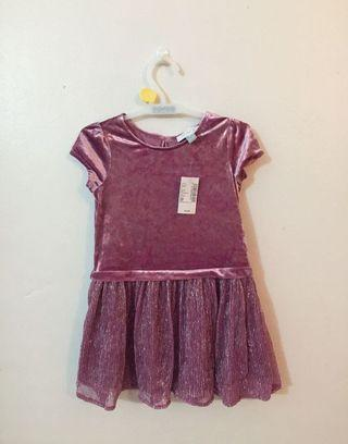 size 3T The children's place Glitter suede dress