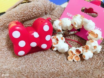 超可愛東京迪士尼全新現貨爆米花桶米奇米妮吊飾