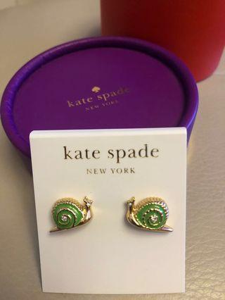 Kate Spade 耳環 蝸牛 閃石