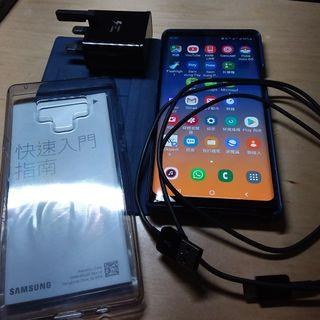 二手 95%新淨 SAMSUNG Note 9  512GB  藍色 (包原裝火牛、原裝電線、單據、原裝透明機套、LED燈機套、鋼化玻璃貼、保養至2020年8月31日)