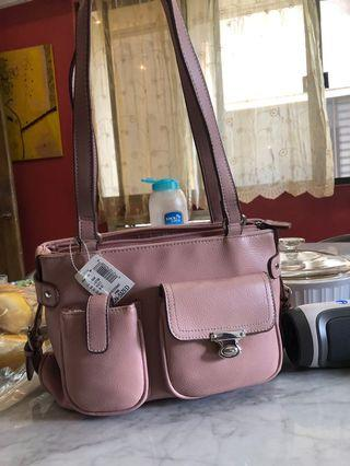 G.H. Bass pink leather bag