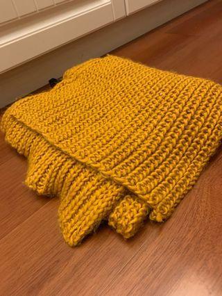 Zara 圍巾 scarf