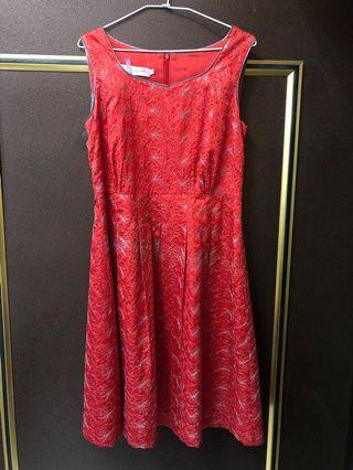 紅色小禮服 洋裝 喜宴禮服